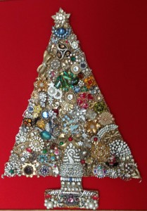 Christmas tree by Forrest's Aunt Kay Bone