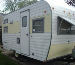 The 1970 Frolic travel trailer