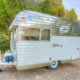 """1963 Fireball """"Rocket""""   Enjoy the softer side of this """"Palm Springs"""" style 1963 Fireball Trailer"""
